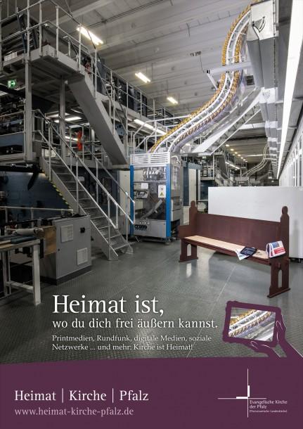 Evangelische Kirche der Pfalz - Heimat | Kirche | Pfalz 2015 - Motiv Druckerei