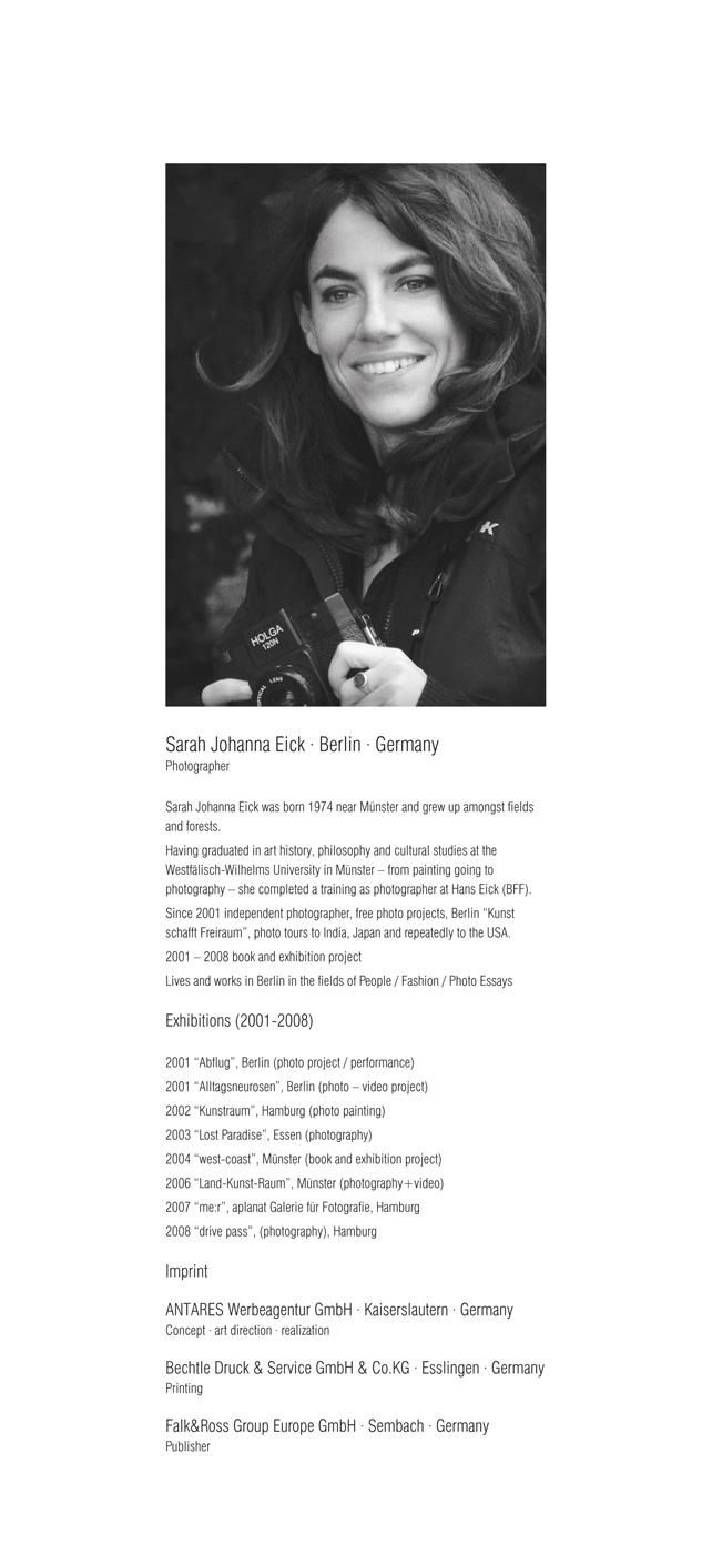 Falk&Ross | Kalender 2009 | Vita Sarah Eick