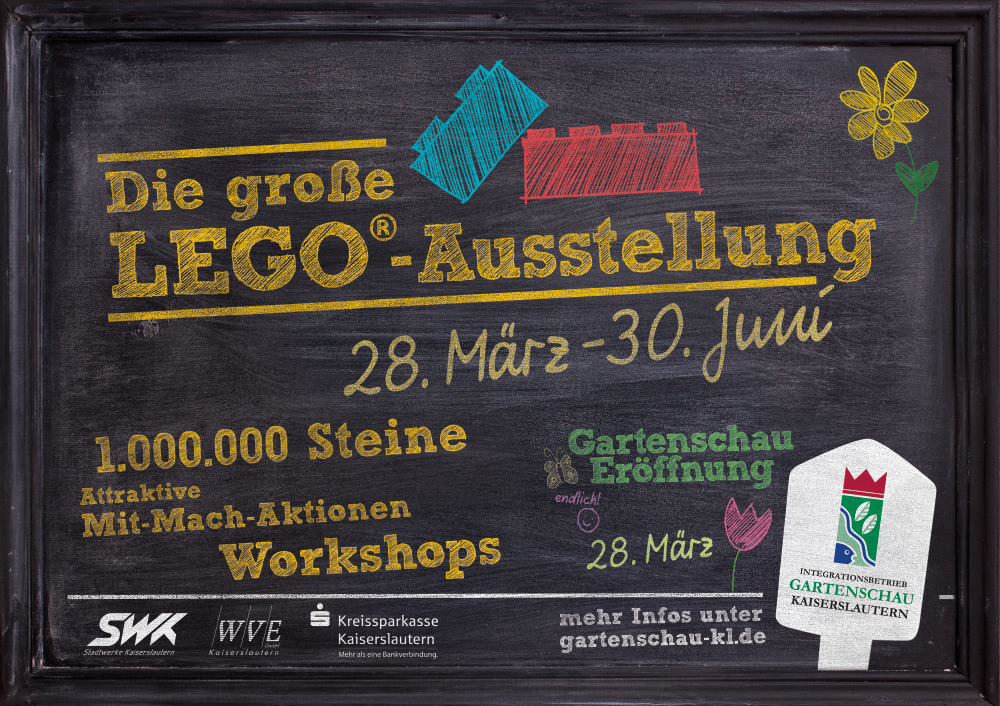 Gartenschau Kaiserslautern Kampagne 2015 LEGO-Ausstellung