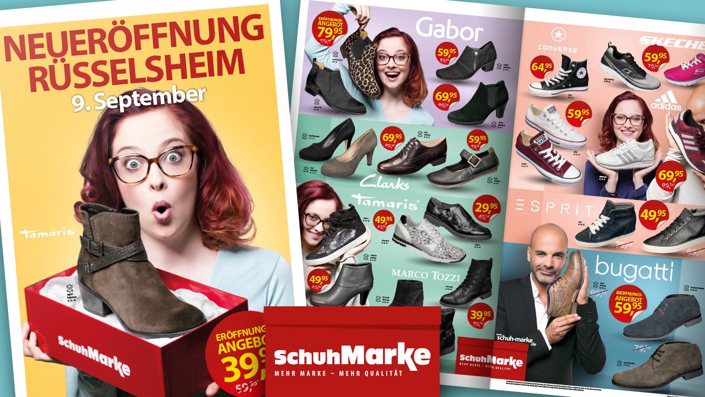 Schuh Marke Beilage Eröffnung Filiale Rüsselsheim