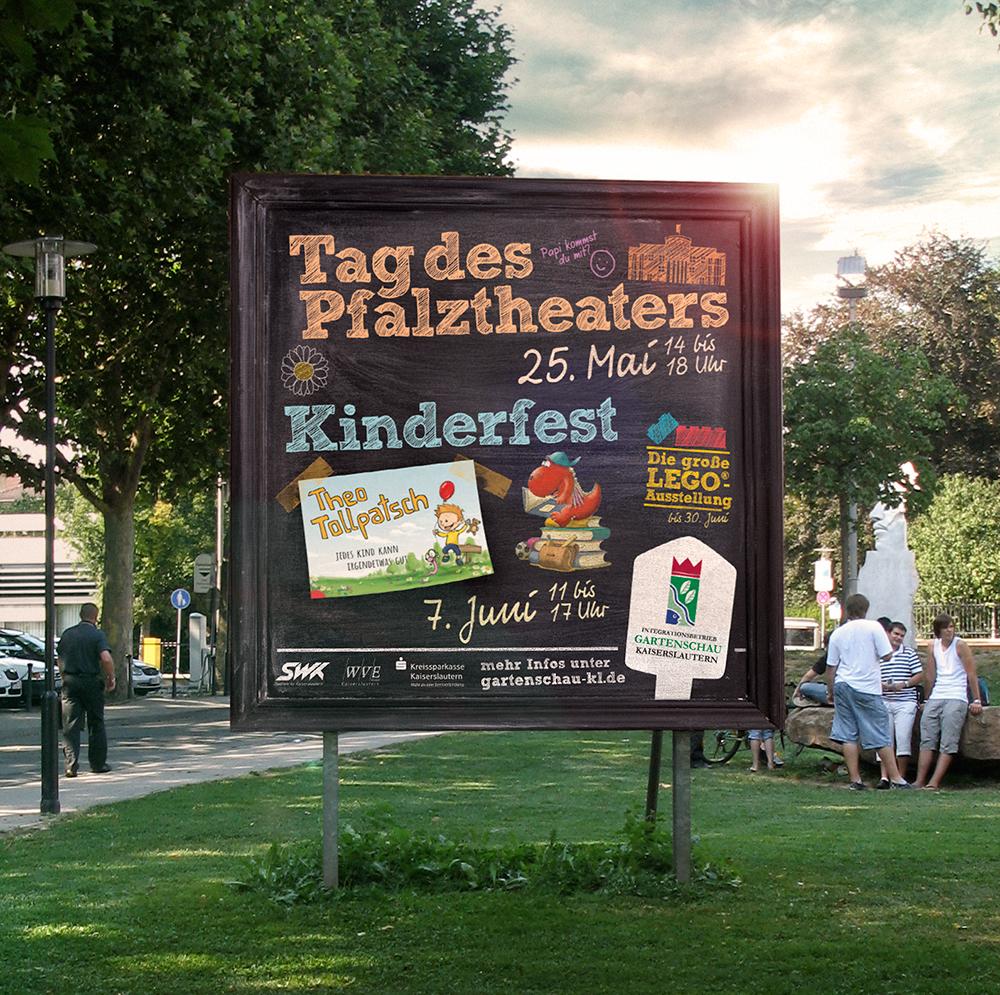 Ortseingangsschild Gartenschau Kaiserslautern Kampagne 2015