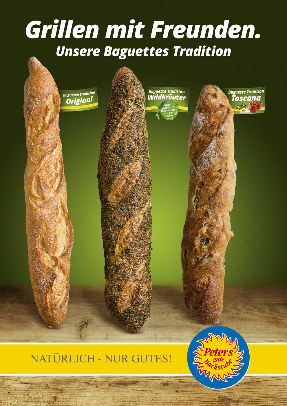 Peters gute Backstube   Plakat Baguette Tradition