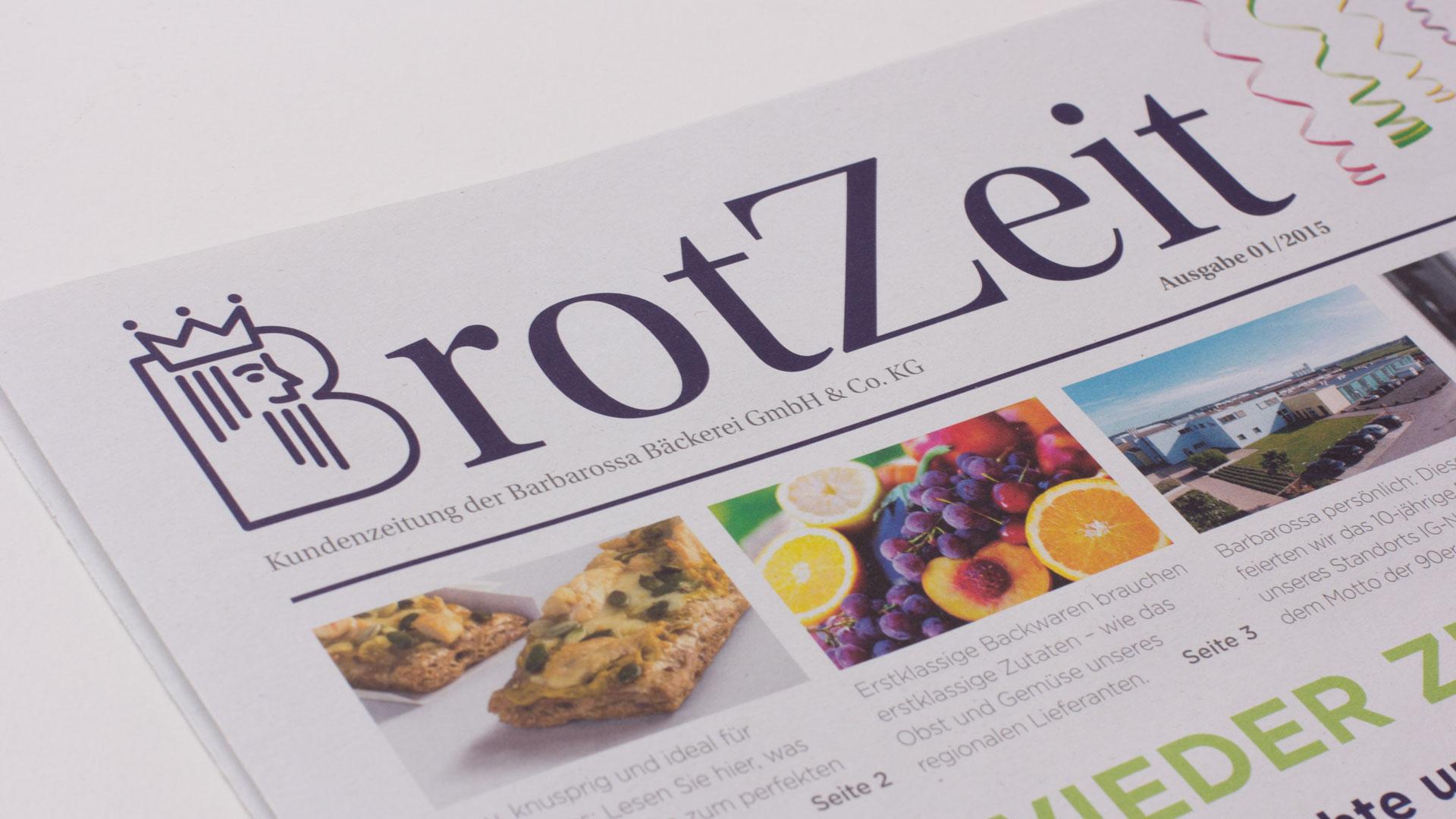 Barbarossa Bäckerei Kaiserslautern Kundenzeitung BrotZeit