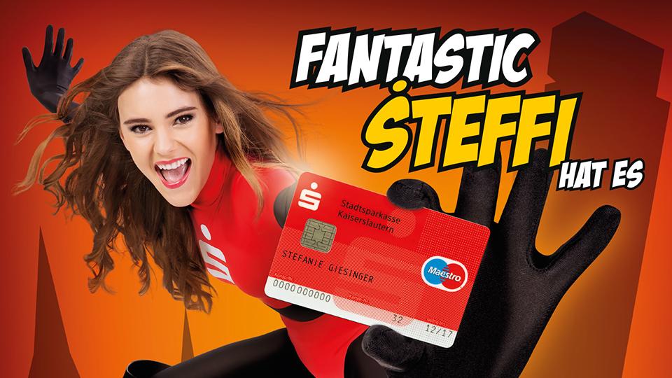 Kampagne Stadtsparkasse Kaiserslautern, S-Giro-Fantastic, Stefanie Giesinger