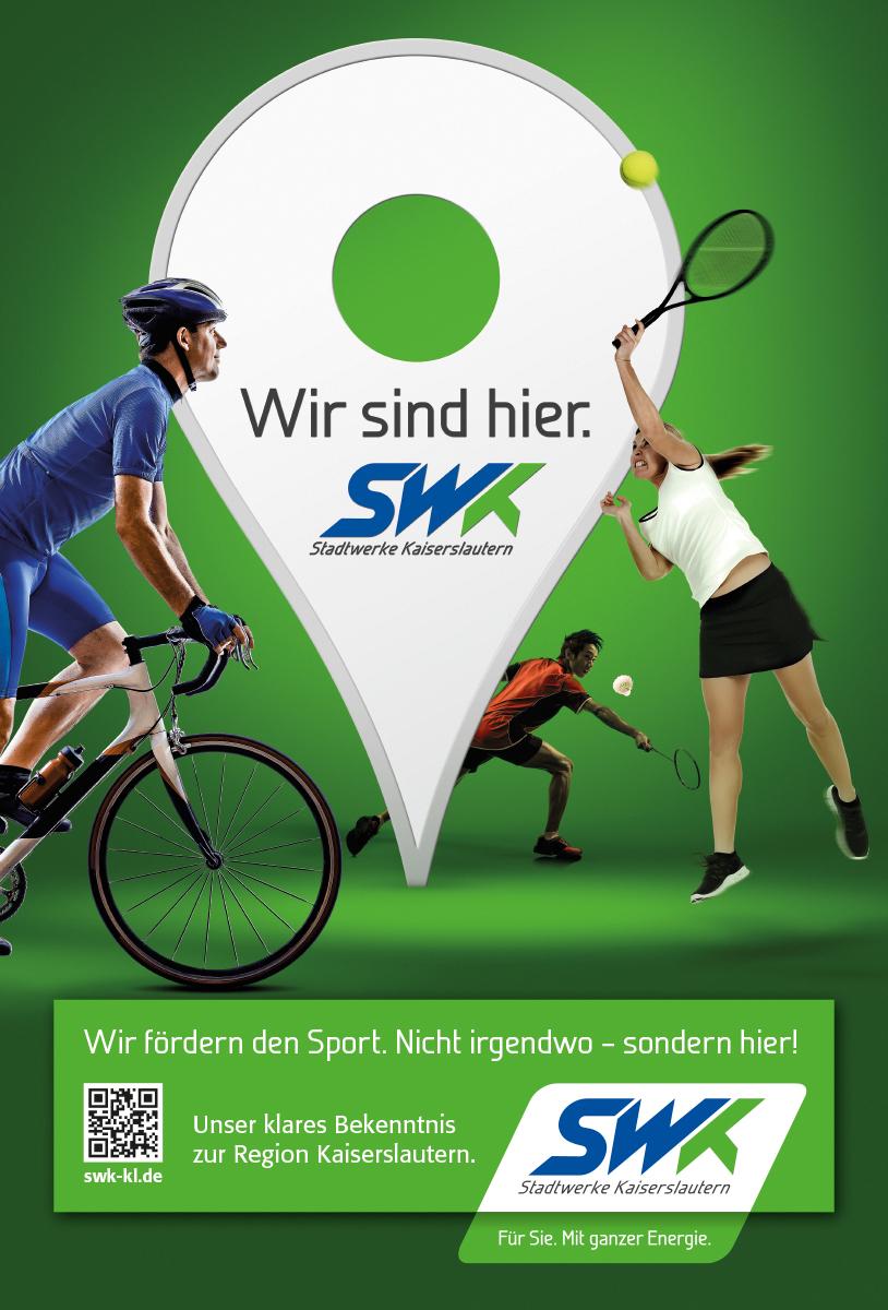 "SWK Stadtwerke Kaiserslautern Kampagne ""Wir sind hier"""